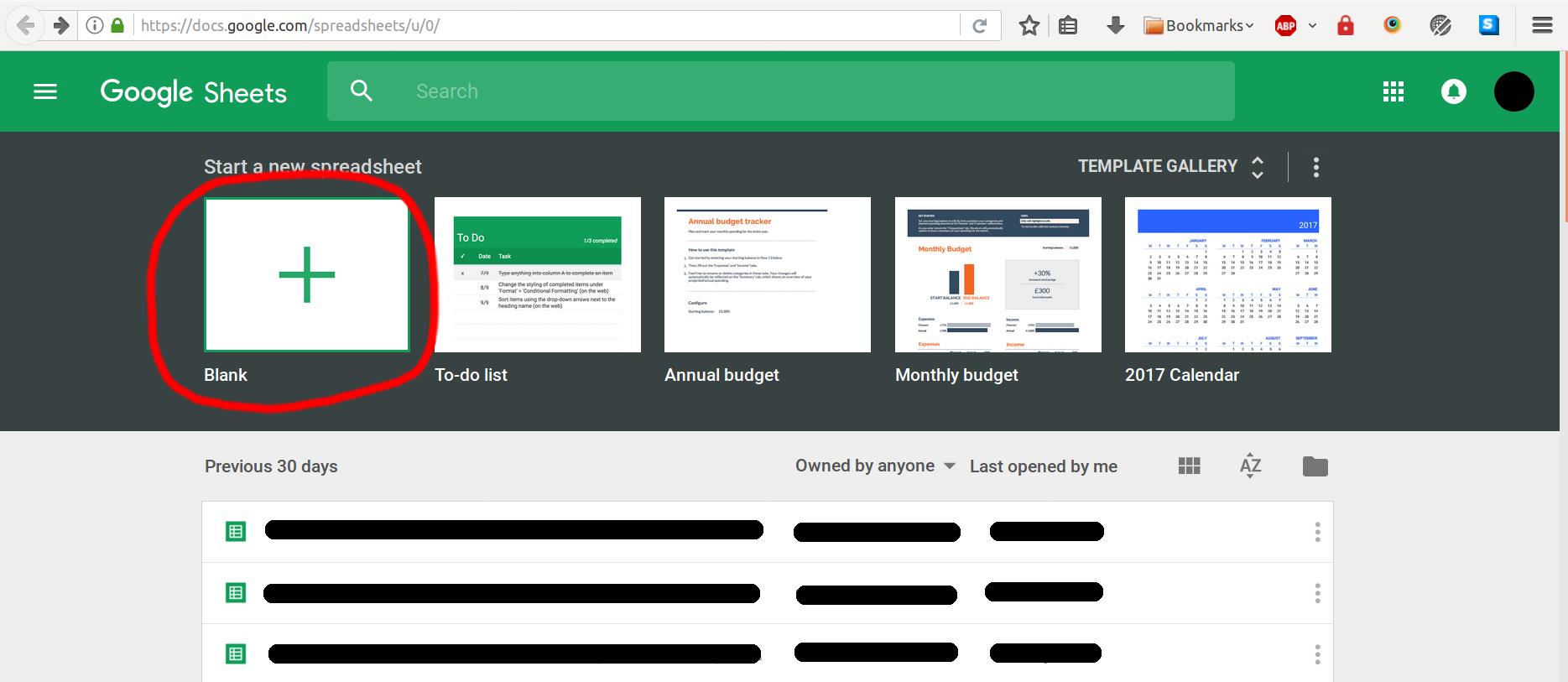 Spreadsheet tutorial - server js